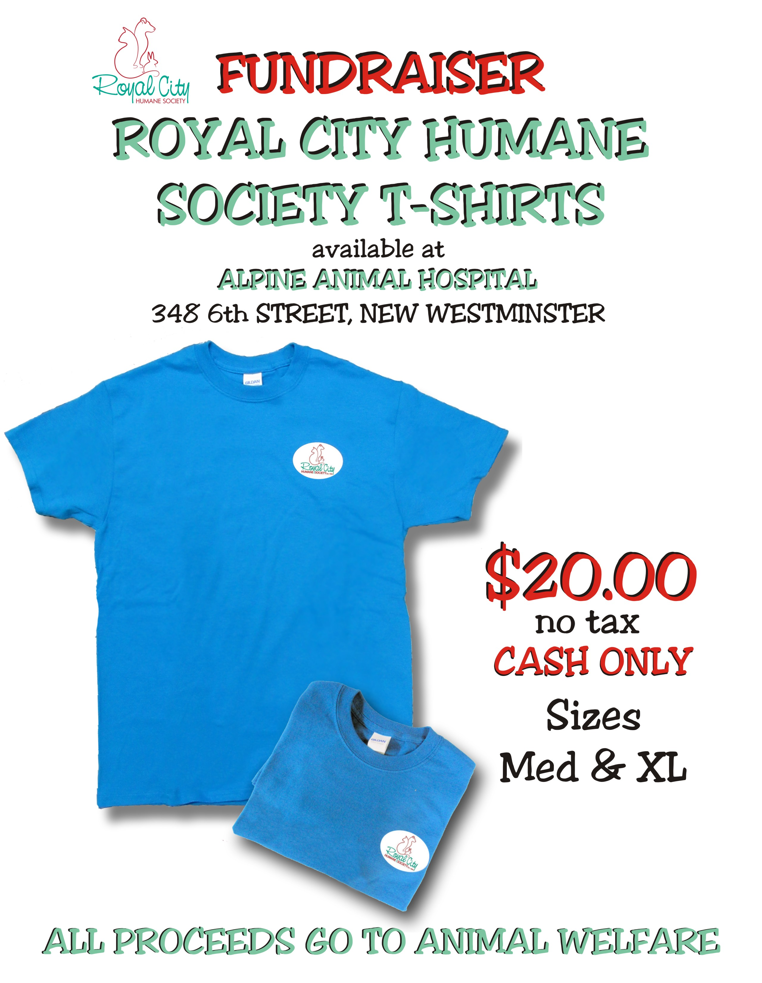 Royal City Humane Society TShirt2